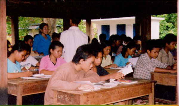 Omany Village English Classes. English classes, taught in early morning and evening outside the regular school schedule, offer young people a chance to learn a skill that opens up many job opportunities. CWP has funded English teachers and school supplies.