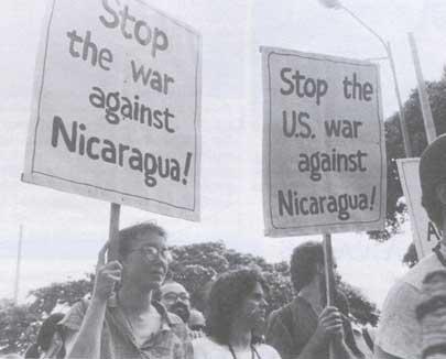 Stop the war in Nicaragua
