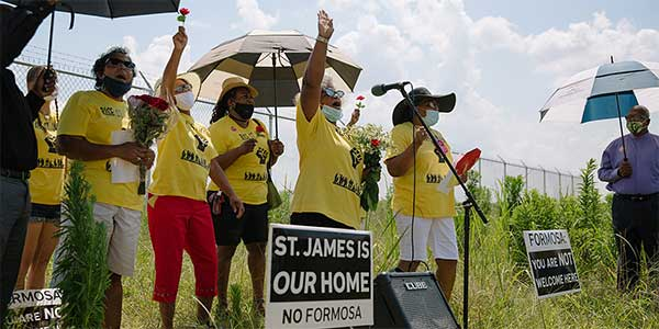 RISE St. James advocates for racial and environmental justice in St. James Parish, Louisiana. Rise St. James is organizing to #StopFormosa and block the construction of a toxic facility in their community.